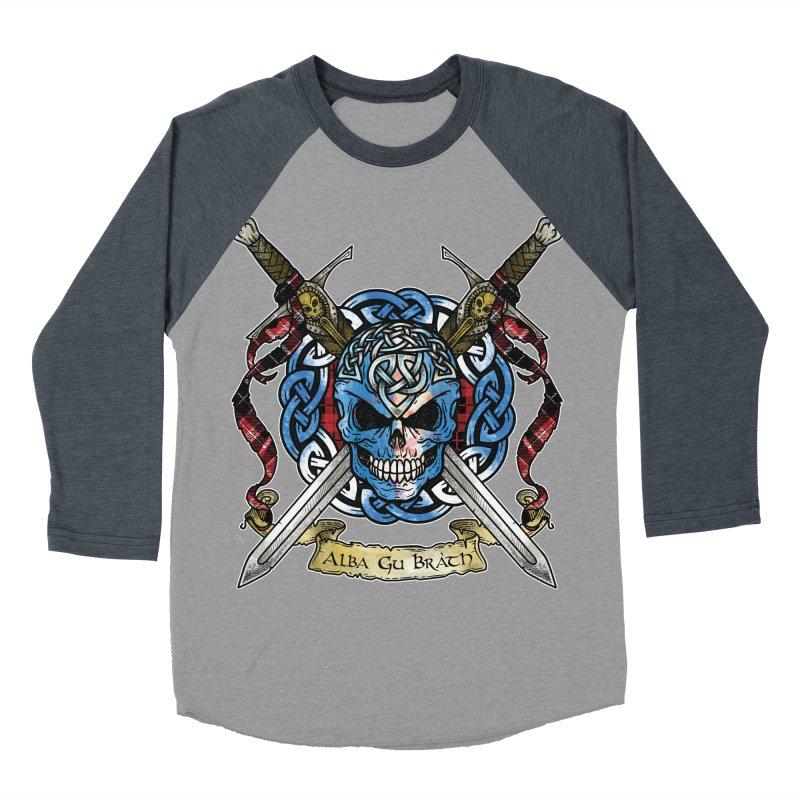 Celtic Warrior: Scotland Women's Baseball Triblend Longsleeve T-Shirt by Celtic Hammer Club