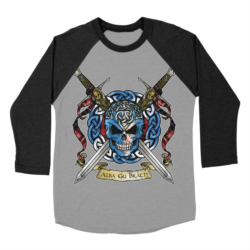 Celtic Warrior: Scotland Men's Baseball Triblend Longsleeve T-Shirt by Celtic Hammer Club