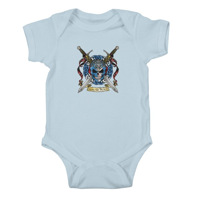 Celtic Warrior: Scotland Kids Baby Bodysuit by Celtic Hammer Club