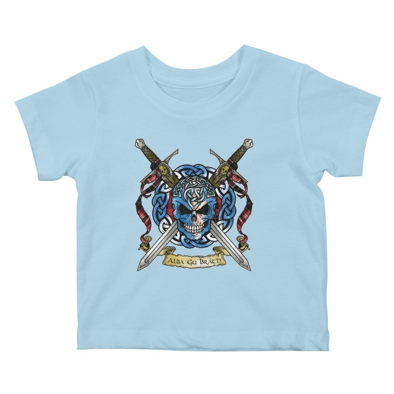 Celtic Warrior: Scotland Kids Baby T-Shirt by Celtic Hammer Club