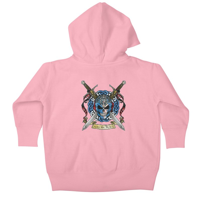Celtic Warrior: Scotland Kids Baby Zip-Up Hoody by Celtic Hammer Club