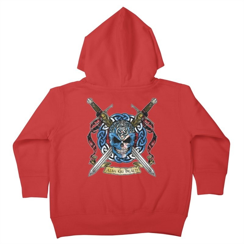 Celtic Warrior: Scotland Kids Toddler Zip-Up Hoody by Celtic Hammer Club