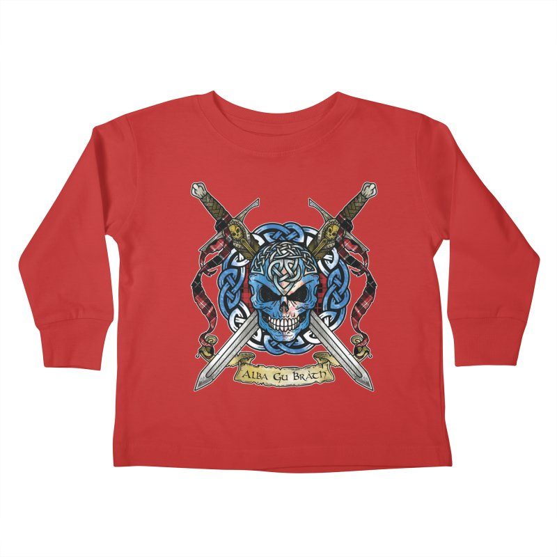 Celtic Warrior: Scotland Kids Toddler Longsleeve T-Shirt by Celtic Hammer Club
