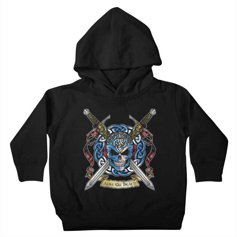 Celtic Warrior: Scotland Kids Toddler Pullover Hoody by Celtic Hammer Club