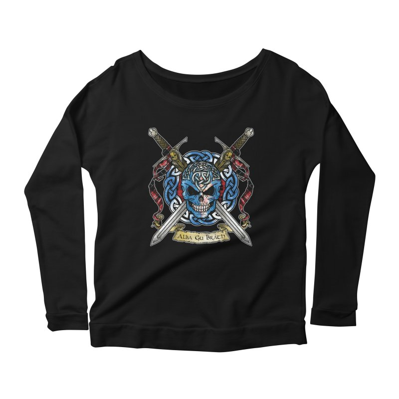 Celtic Warrior: Scotland Women's Scoop Neck Longsleeve T-Shirt by Celtic Hammer Club