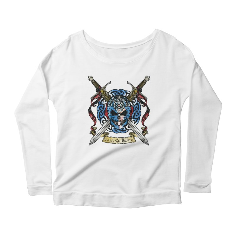 Celtic Warrior: Scotland Women's Scoop Neck Longsleeve T-Shirt by Celtic Hammer Club