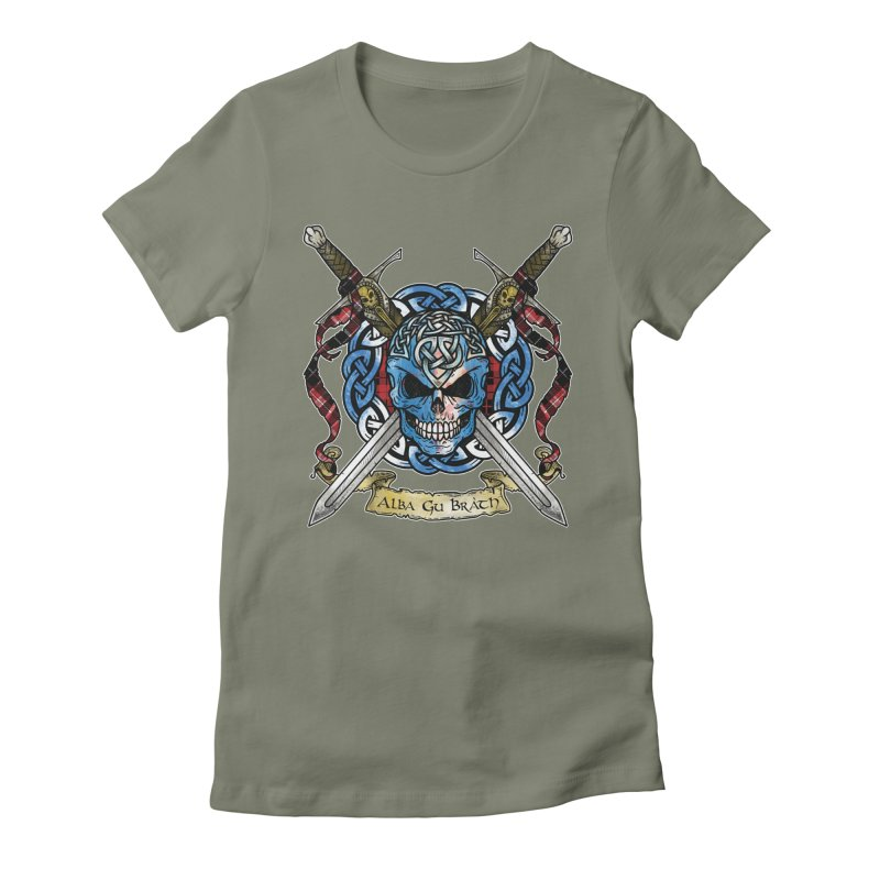 Celtic Warrior: Scotland Women's Fitted T-Shirt by Celtic Hammer Club