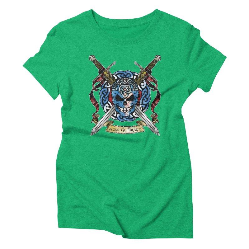 Celtic Warrior: Scotland Women's Triblend T-Shirt by Celtic Hammer Club