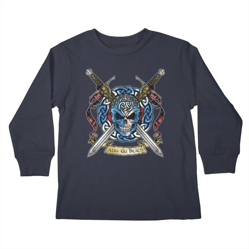 Celtic Warrior: Scotland Kids Longsleeve T-Shirt by Celtic Hammer Club