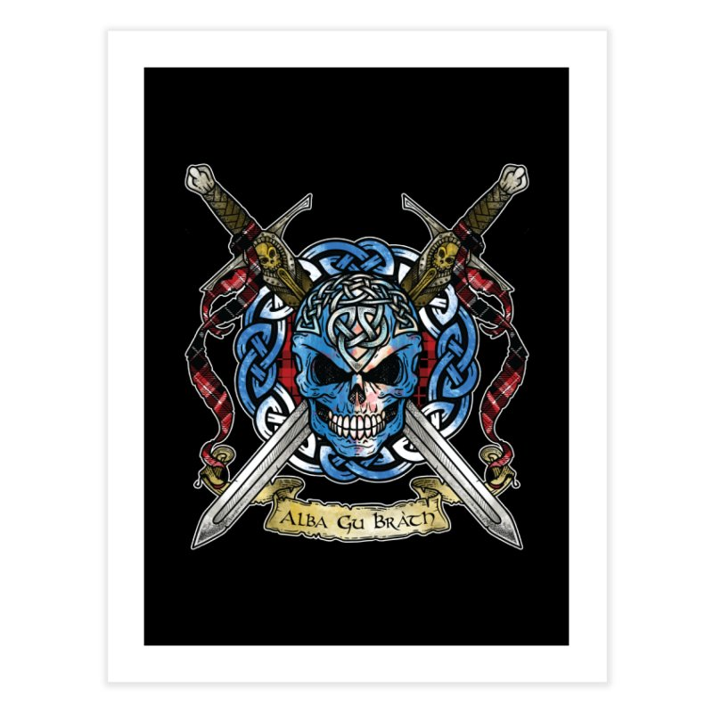 Celtic Warrior: Scotland Home Fine Art Print by Celtic Hammer Club