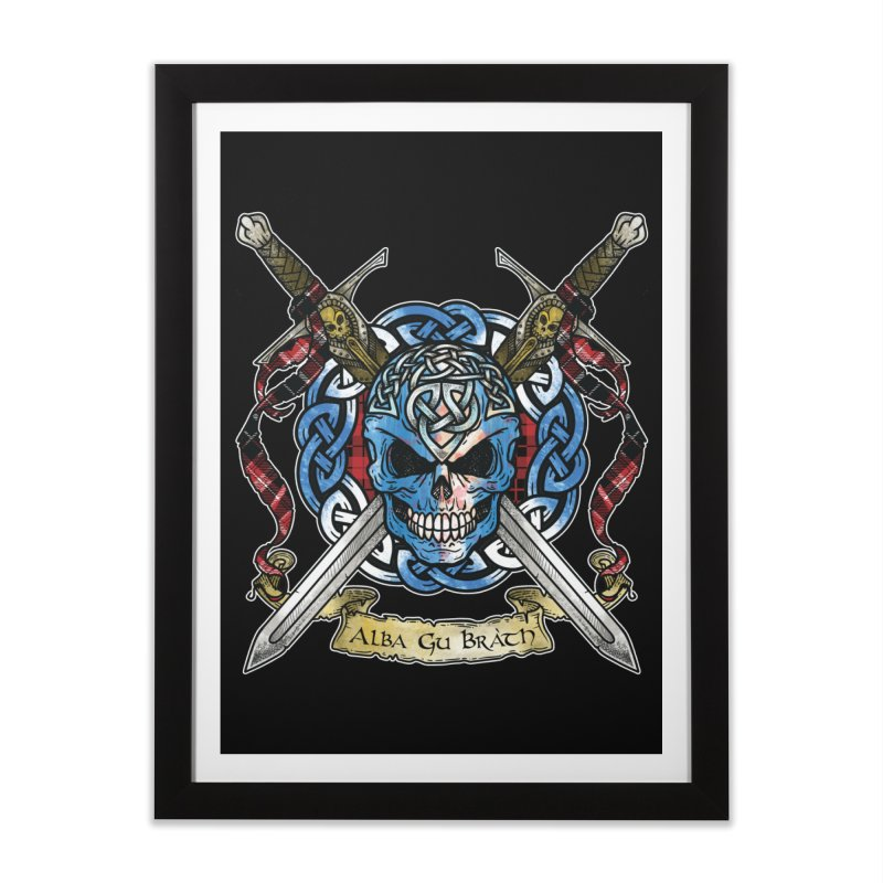 Celtic Warrior: Scotland Home Framed Fine Art Print by Celtic Hammer Club