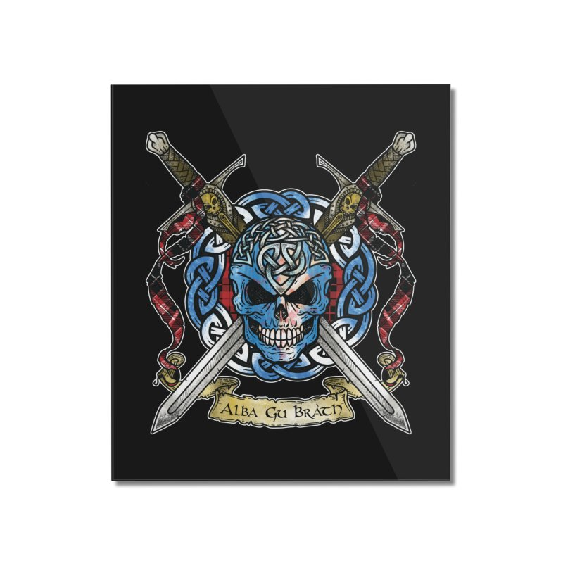 Celtic Warrior: Scotland Home Mounted Acrylic Print by Celtic Hammer Club