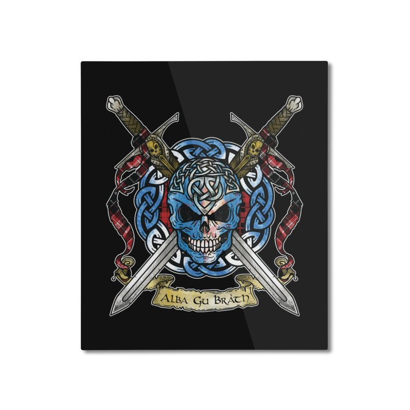 Celtic Warrior: Scotland Home Mounted Aluminum Print by Celtic Hammer Club