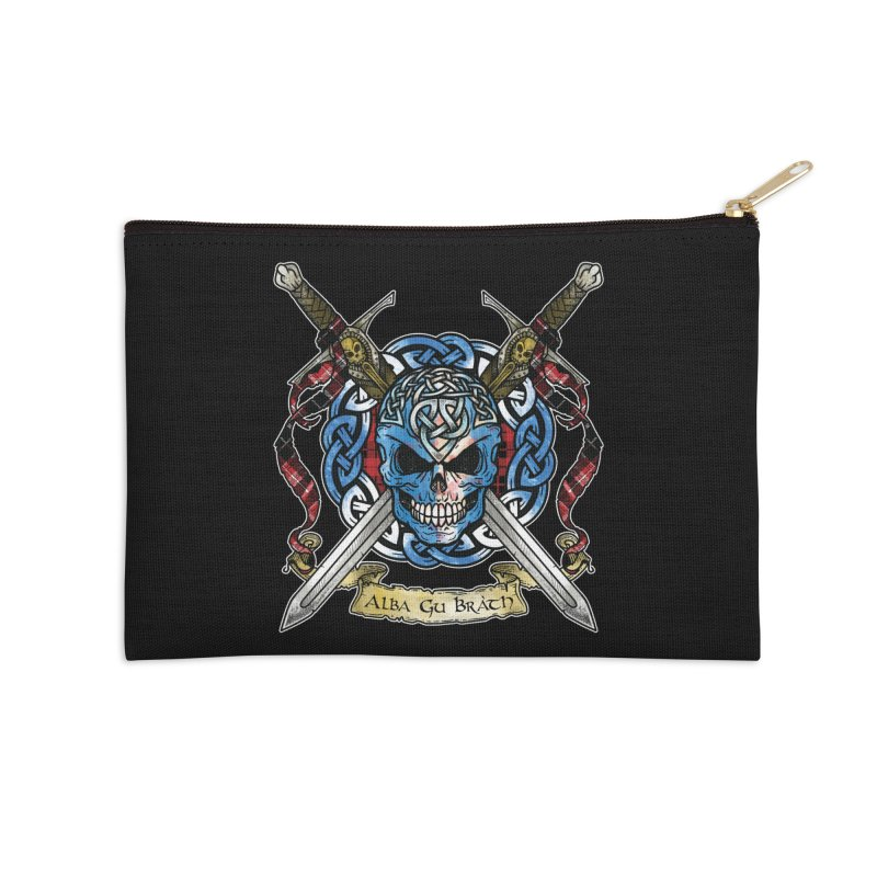 Celtic Warrior: Scotland Accessories Zip Pouch by Celtic Hammer Club