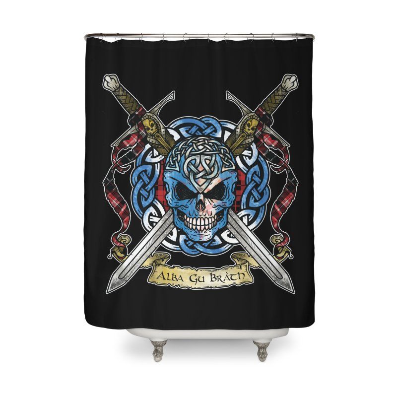 Celtic Warrior: Scotland Home Shower Curtain by Celtic Hammer Club