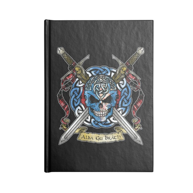 Celtic Warrior: Scotland Accessories Blank Journal Notebook by Celtic Hammer Club