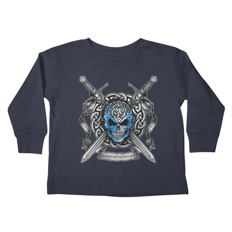 Celtic Warrior Kids Toddler Longsleeve T-Shirt by Celtic Hammer Club