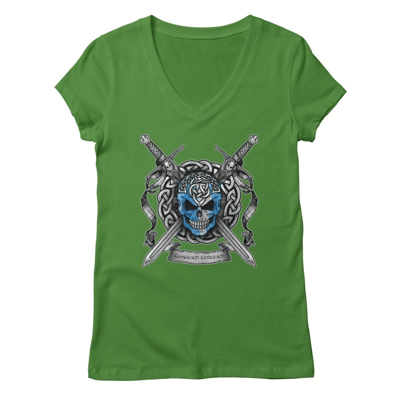 Celtic Warrior Women's Regular V-Neck by Celtic Hammer Club