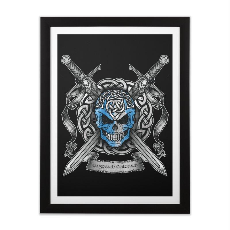 Celtic Warrior Home Framed Fine Art Print by Celtic Hammer Club