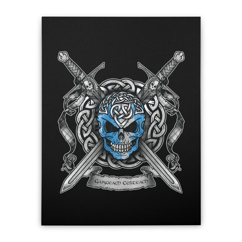 Celtic Warrior Home Stretched Canvas by Celtic Hammer Club
