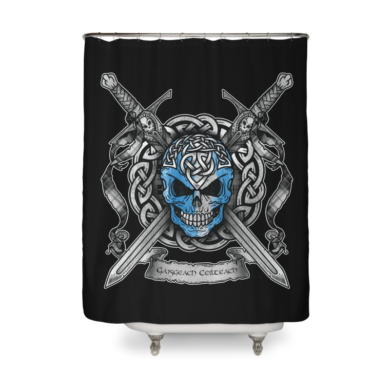Celtic Warrior Home Shower Curtain by Celtic Hammer Club