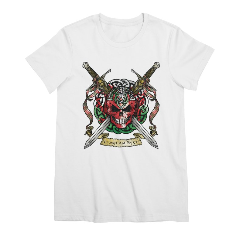Celtic Warrior: Wales Women's Premium T-Shirt by Celtic Hammer Club