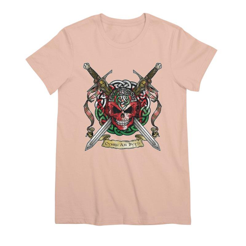 Celtic Warrior: Wales Women's Premium T-Shirt by Celtic Hammer Club