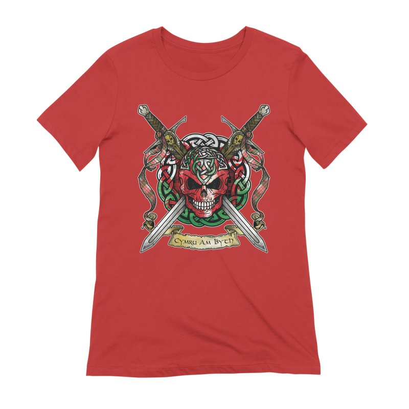 Celtic Warrior: Wales Women's Extra Soft T-Shirt by Celtic Hammer Club