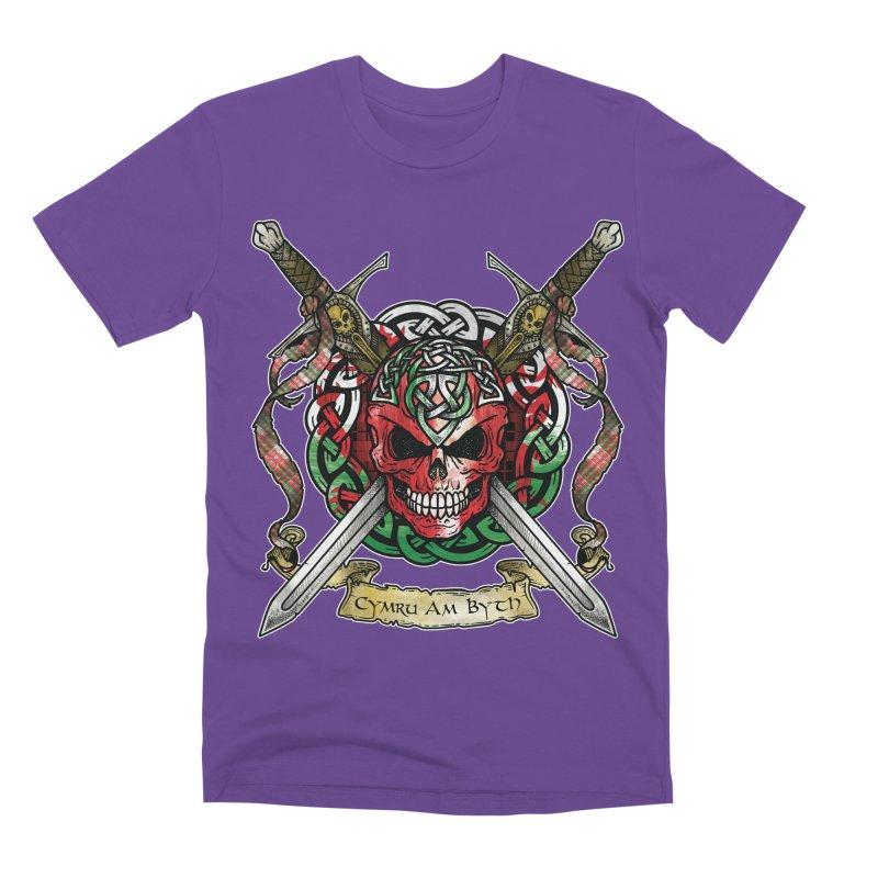 Celtic Warrior: Wales Men's Premium T-Shirt by Celtic Hammer Club
