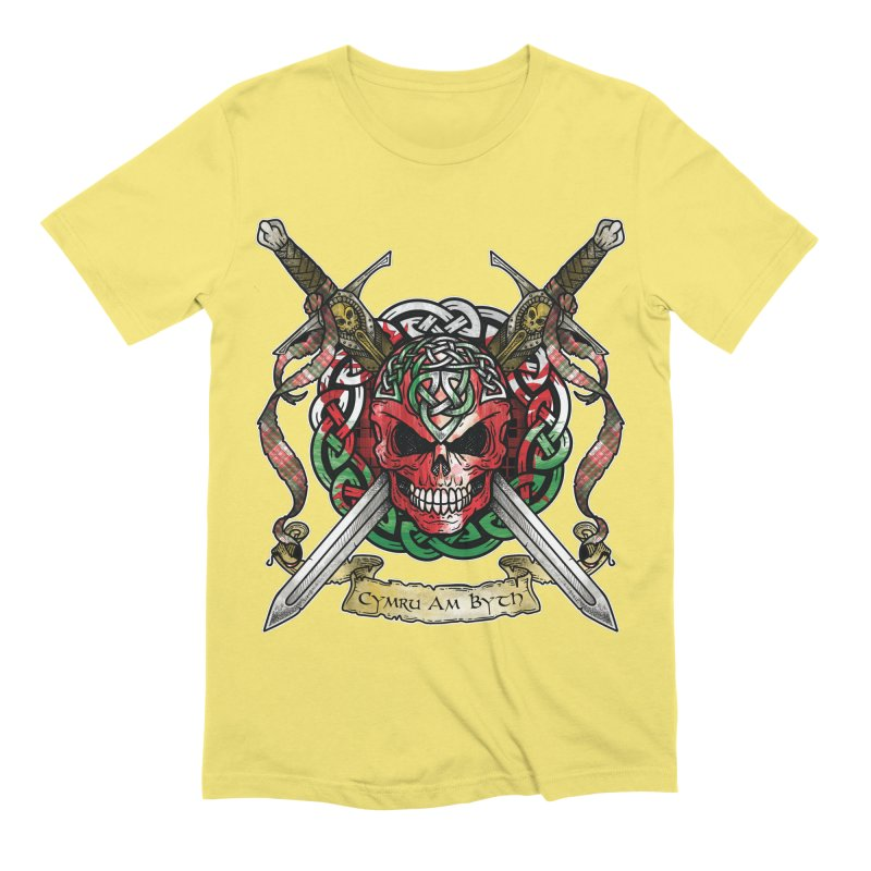 Celtic Warrior: Wales Men's Extra Soft T-Shirt by Celtic Hammer Club