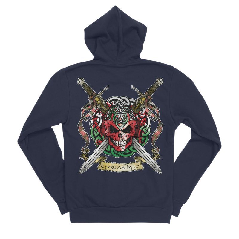 Celtic Warrior: Wales Men's Sponge Fleece Zip-Up Hoody by Celtic Hammer Club