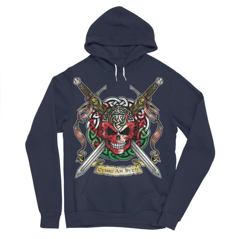 Celtic Warrior: Wales Men's Sponge Fleece Pullover Hoody by Celtic Hammer Club