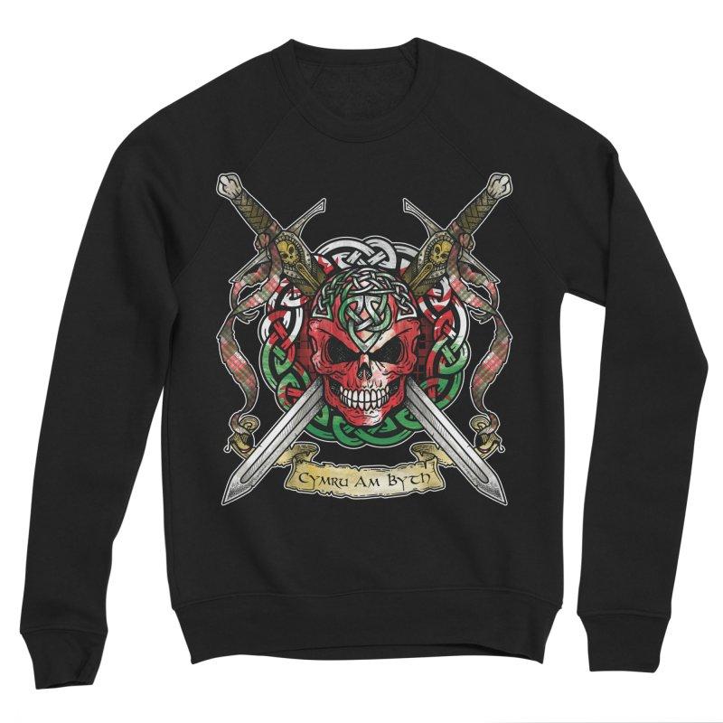 Celtic Warrior: Wales Men's Sponge Fleece Sweatshirt by Celtic Hammer Club