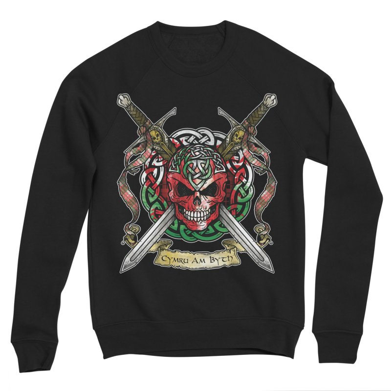 Celtic Warrior: Wales Women's Sponge Fleece Sweatshirt by Celtic Hammer Club