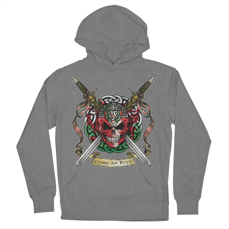 Celtic Warrior: Wales Women's French Terry Pullover Hoody by Celtic Hammer Club