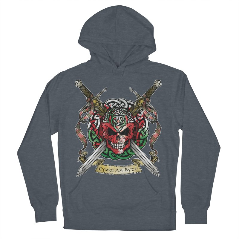 Celtic Warrior: Wales Men's French Terry Pullover Hoody by Celtic Hammer Club