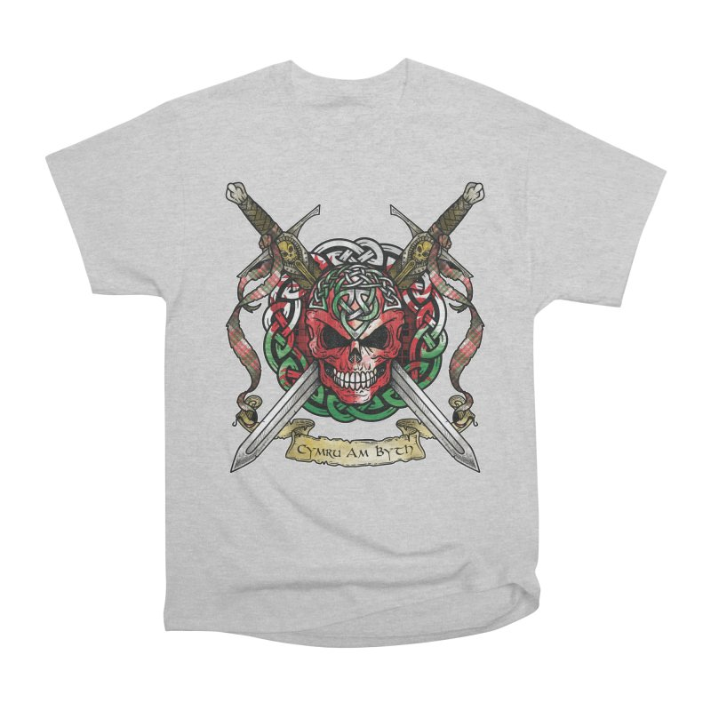 Celtic Warrior: Wales Women's Heavyweight Unisex T-Shirt by Celtic Hammer Club