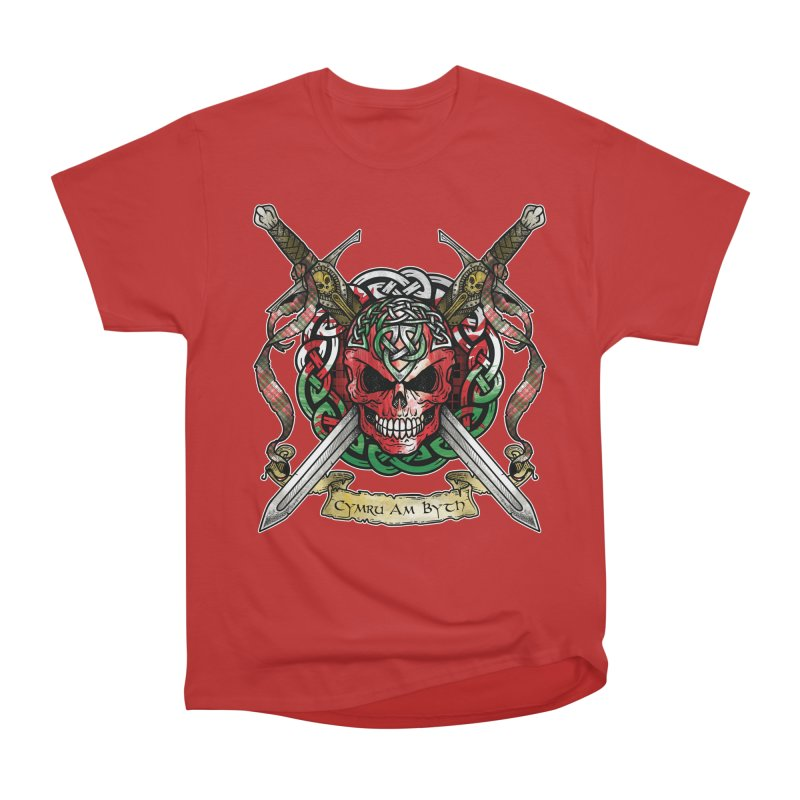 Celtic Warrior: Wales Men's Heavyweight T-Shirt by Celtic Hammer Club