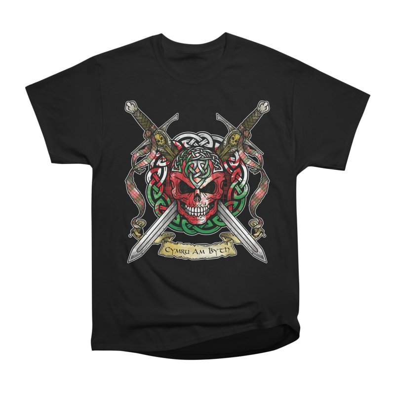 Celtic Warrior: Wales Women's Heavyweight Unisex T-Shirt by Celtic Hammer Club