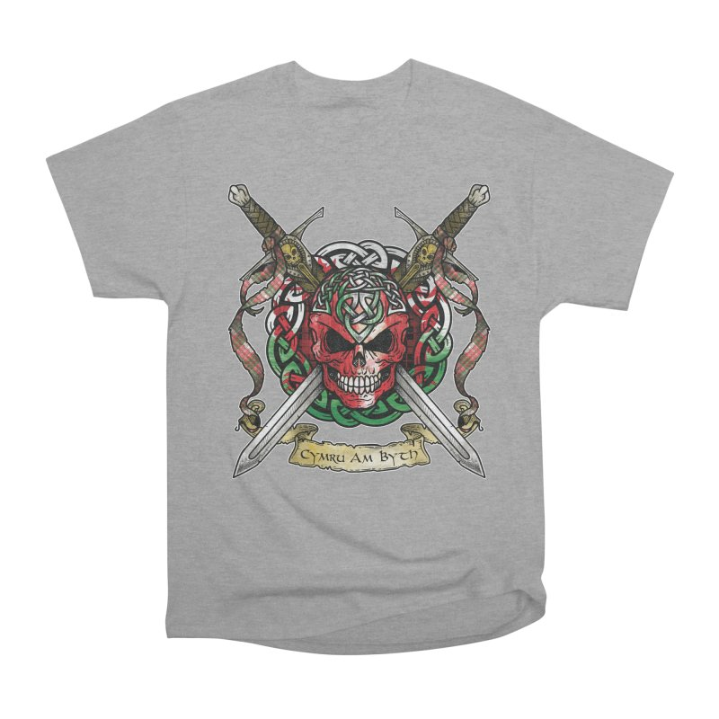Celtic Warrior: Wales Men's Heavyweight T-Shirt by Celtic Hammer Club