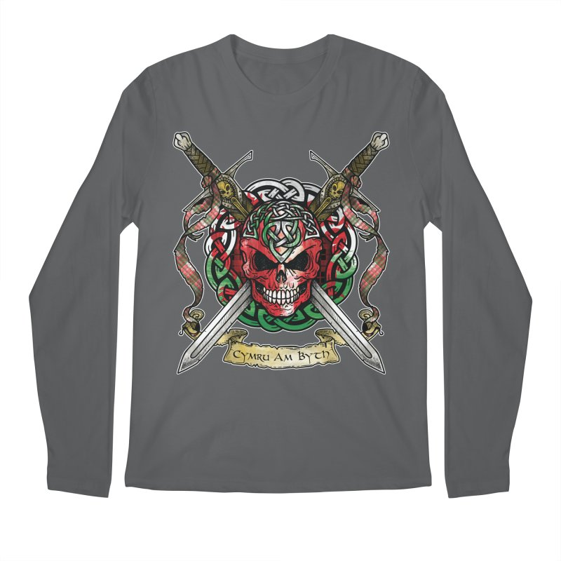 Celtic Warrior: Wales Men's Regular Longsleeve T-Shirt by Celtic Hammer Club