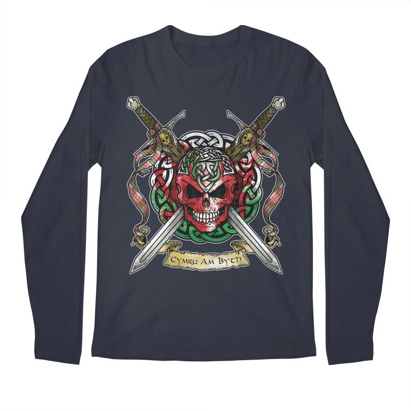 Celtic Warrior: Wales Men's Regular Longsleeve T-Shirt by Celtic Hammer Club