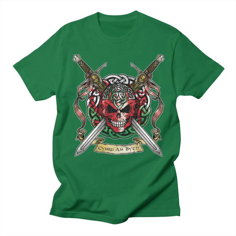 Celtic Warrior: Wales Men's Regular T-Shirt by Celtic Hammer Club