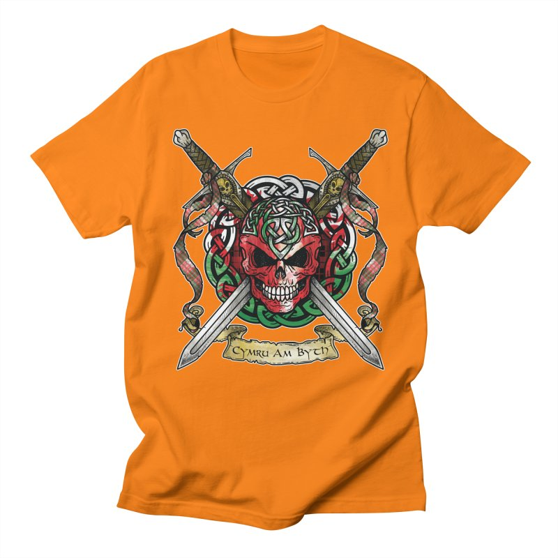 Celtic Warrior: Wales Women's Regular Unisex T-Shirt by Celtic Hammer Club