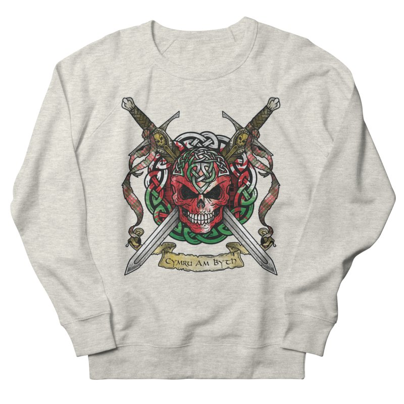 Celtic Warrior: Wales Women's French Terry Sweatshirt by Celtic Hammer Club