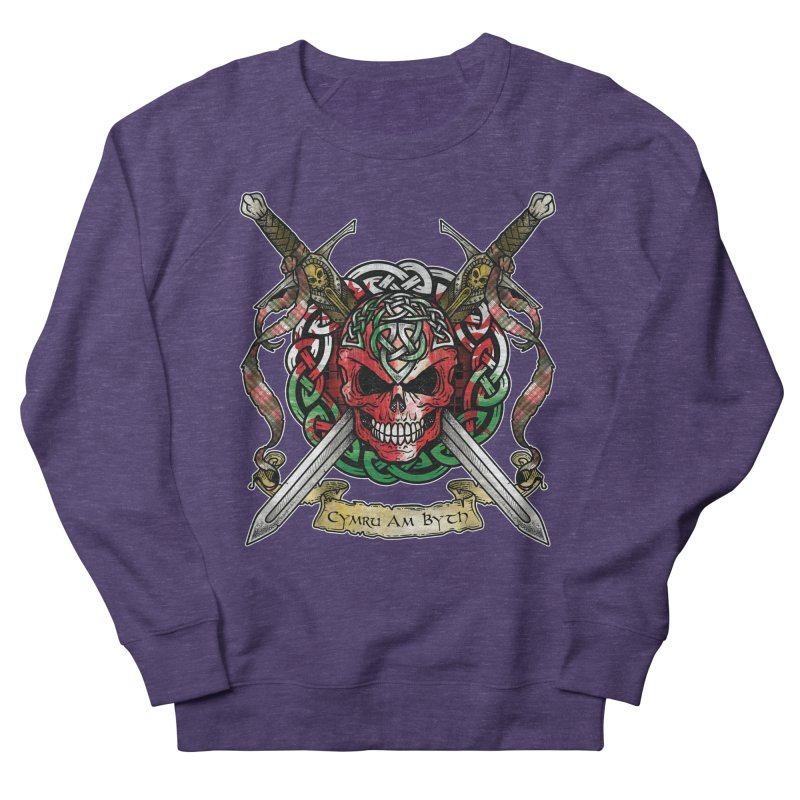 Celtic Warrior: Wales Men's French Terry Sweatshirt by Celtic Hammer Club