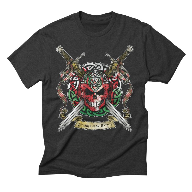 Celtic Warrior: Wales Men's Triblend T-Shirt by Celtic Hammer Club