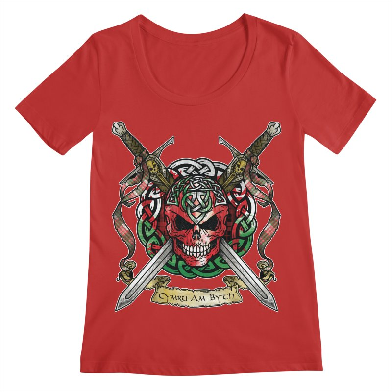 Celtic Warrior: Wales Women's Regular Scoop Neck by Celtic Hammer Club