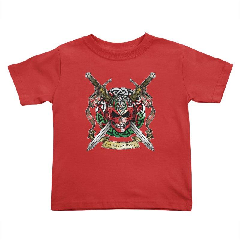 Celtic Warrior: Wales Kids Toddler T-Shirt by Celtic Hammer Club