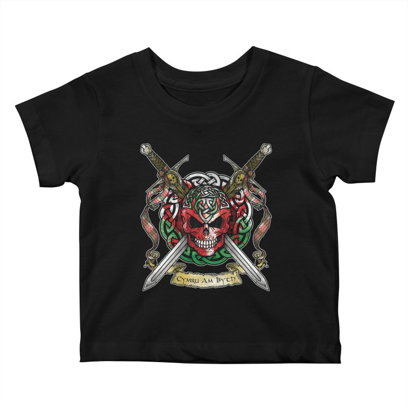 Celtic Warrior: Wales Kids Baby T-Shirt by Celtic Hammer Club